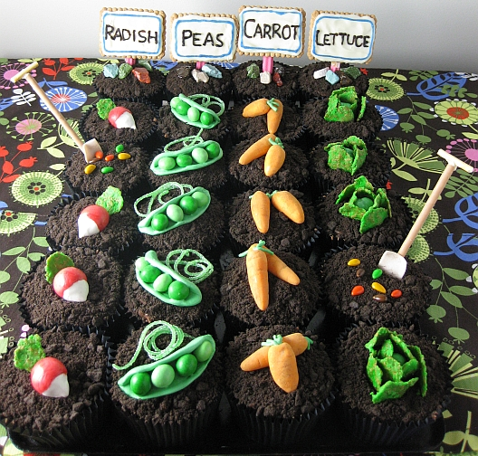 In the garden of cupcakes baby for Vegetable patch ideas